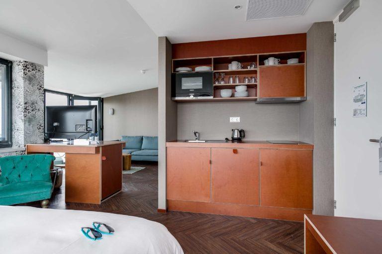 Keuken junior suite zeezijde Beachhouse hotel