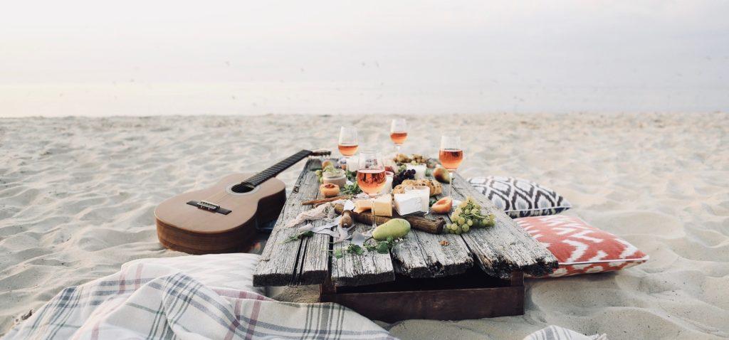 Picknick spots aan het strand